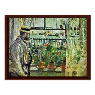 Eugène Manet On The Isle Of Wight Postcard