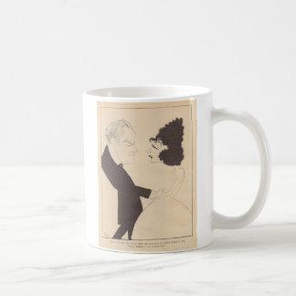 Eugene O'Brien Norma Talmadge caricature Basic White Mug