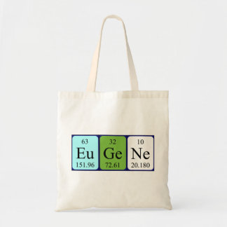 Eugene periodic table name tote bag