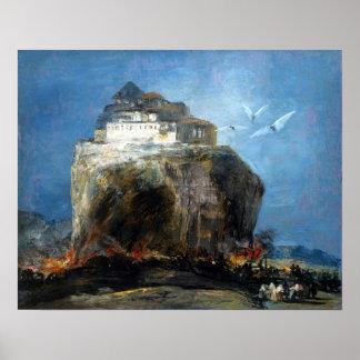Eugenio Lucas Velázquez City on a Rock Poster