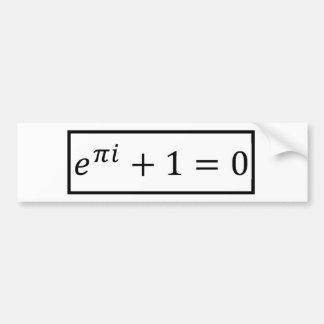 Euler's Formula Bumper Sticker