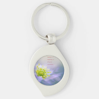 Euler's Identity Begs Questions Silver-Colored Swirl Key Ring