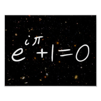 Euler's Identity Deep Field Galaxies Poster