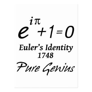 Euler's Identity Postcard