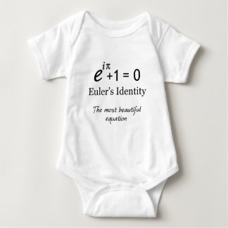 Euler's Identity - the most beautiful equation Baby Bodysuit