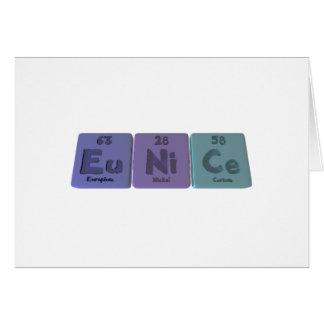 Eunice  as Europium Nickel Cerium Greeting Card