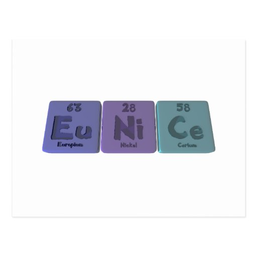 Eunice  as Europium Nickel Cerium Postcard