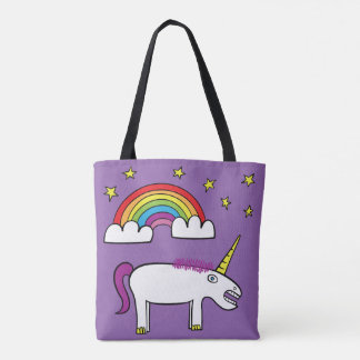 Eunice the Unicorn - All-Over-Print Tote Purple