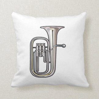 euphonium brass instrument music realistic.png cushion