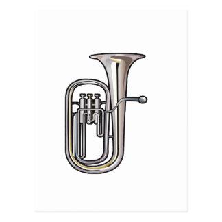 euphonium brass instrument music realistic.png postcard