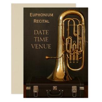 Euphonium brass instrument Recital Card