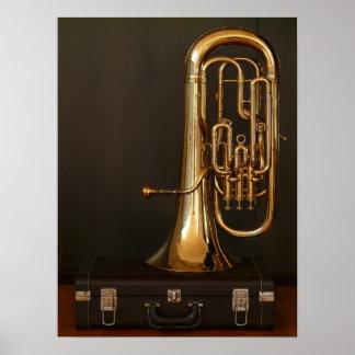 Euphonium brass music poster
