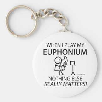 Euphonium Nothing Else Matters Basic Round Button Key Ring