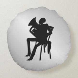 Euphonium Player Round Cushion