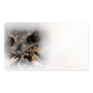 Eurasian Eagle-owl Business Card Templates