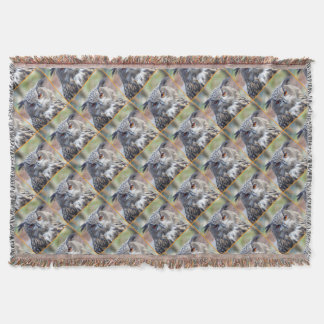 Eurasian Eagle-Owl, Uhu 02.2.o Throw Blanket
