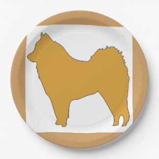 eurasier color silo paper plate