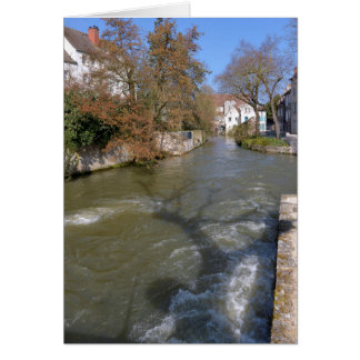Eure river at Chartres in France Card