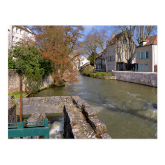 Eure river at Chartres in France Postcard