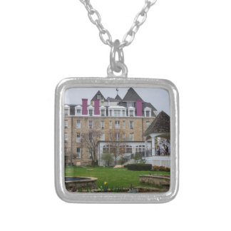 Eureka Crescent Silver Plated Necklace