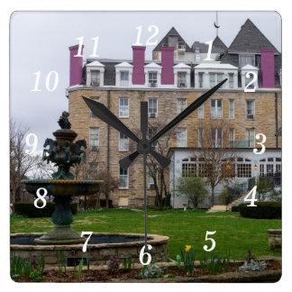 Eureka Crescent Square Wall Clock