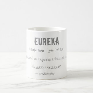 Eureka Definition Archimedes Principle Science Coffee Mug