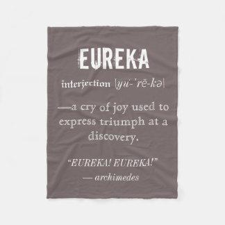 Eureka Definition Archimedes Principle Science Fleece Blanket