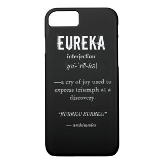 Eureka Definition Archimedes Principle Science iPhone 8/7 Case