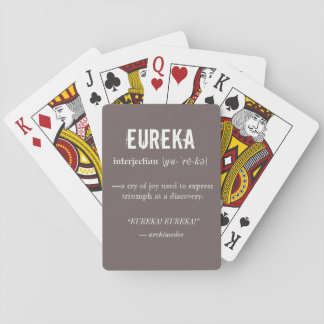 Eureka Definition Archimedes Principle Science Playing Cards