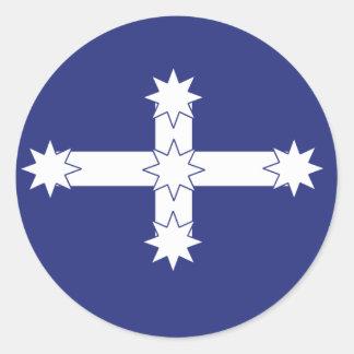 Eureka Flag Round Sticker