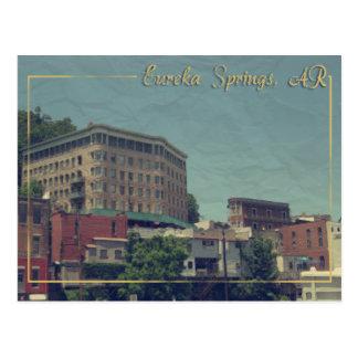 Eureka Springs, Arkansas Downtown Basin Hotel Postcard