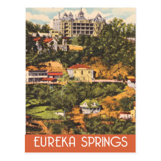 Eureka Springs, Arkansas, vintage travel style Postcard