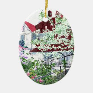 Eureka Springs Victorian House Ceramic Ornament