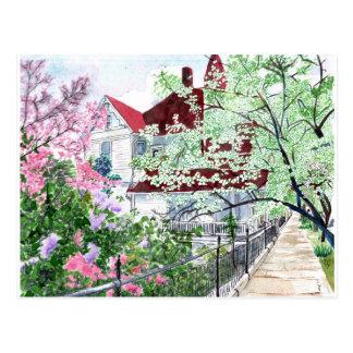 Eureka Springs Victorian House Postcard