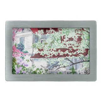 Eureka Springs Victorian House Rectangular Belt Buckle