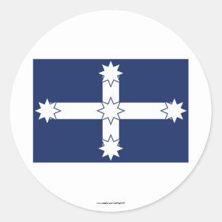 Eureka Stockade Flag Classic Round Sticker