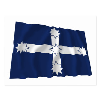 Eureka Stockade Waving Flag Postcard