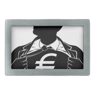 Euro Business Man Superhero Tearing Shirt Chest Belt Buckle