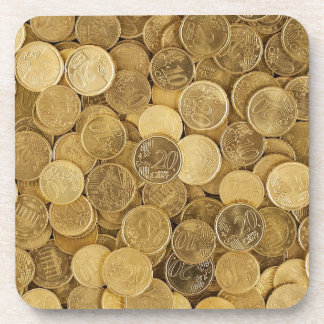 Euro Coins Currency Money Yellow Market Europe Coaster