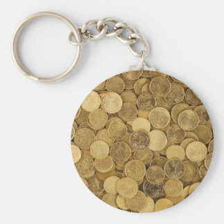 Euro Coins Currency Money Yellow Market Europe Key Ring