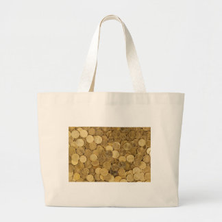 Euro Coins Currency Money Yellow Market Europe Large Tote Bag