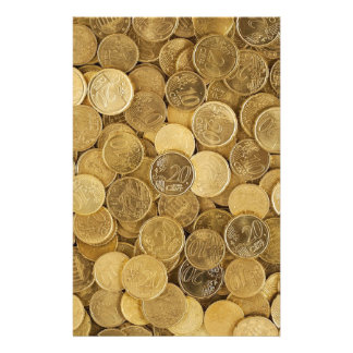 Euro Coins Currency Money Yellow Market Europe Stationery