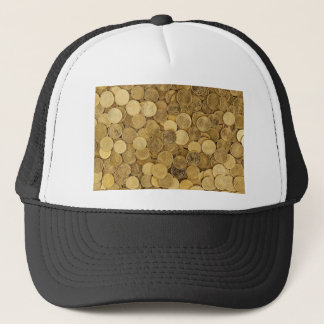Euro Coins Currency Money Yellow Market Europe Trucker Hat