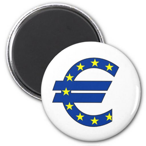 euro currency symbol money sign refrigerator magnets