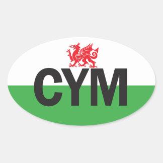 Euro Oval Wales Car Sticker