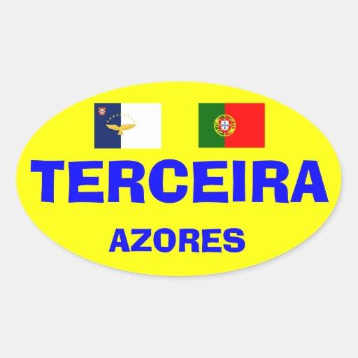 EURO-STYLE, TERCEIRA* AZORES OVAL STICKER