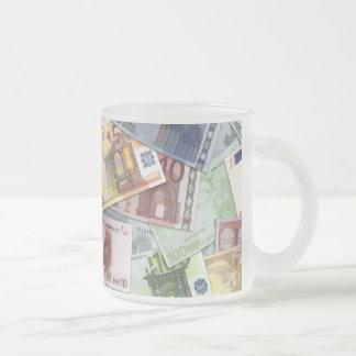 Euro Trip Frosted Glass Coffee Mug