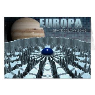 Europa 2048 greeting card