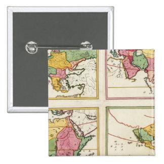 Europa, Asia, Africa, America Pinback Buttons