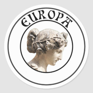 Europa: Be Proud to Show your Euro Roots! Classic Round Sticker